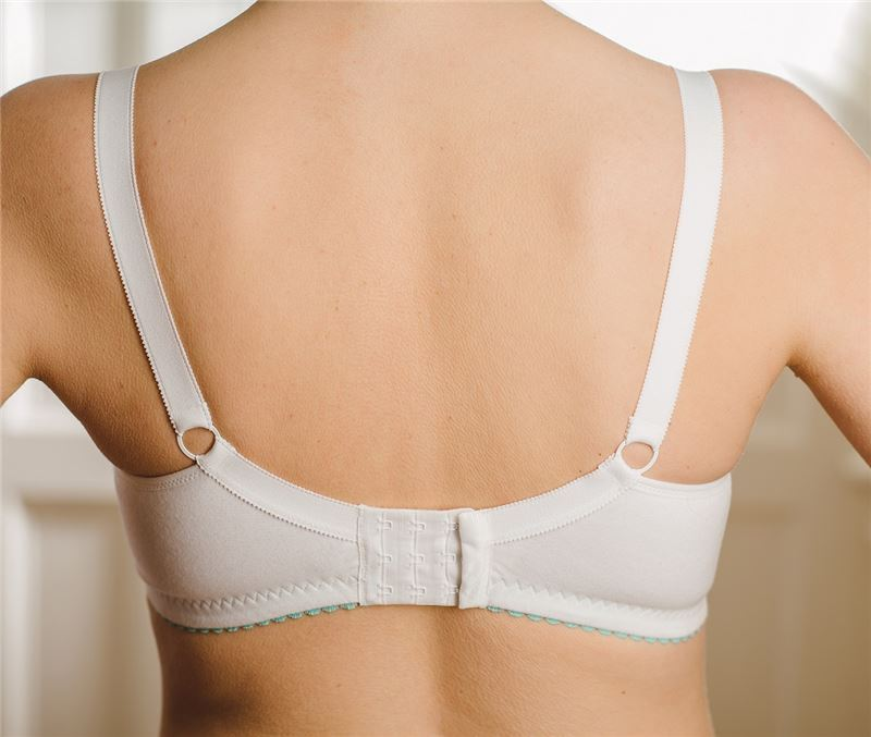 rear view of white xpanda bra